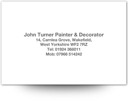 John Turner Painter & Decorator